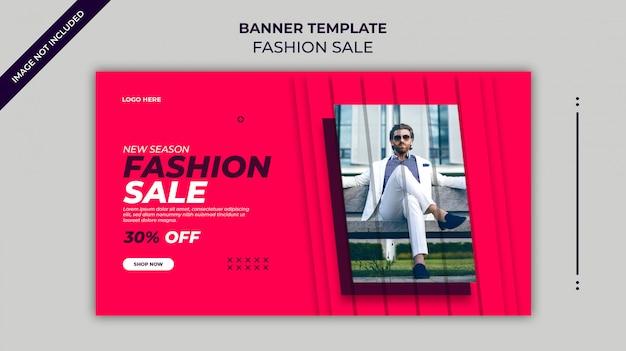 Nuova stagione moda vendita banner web o modello di banner instagram Psd Premium