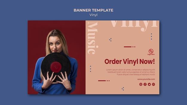 Oder vinyl nu sjabloon voor spandoek Gratis Psd