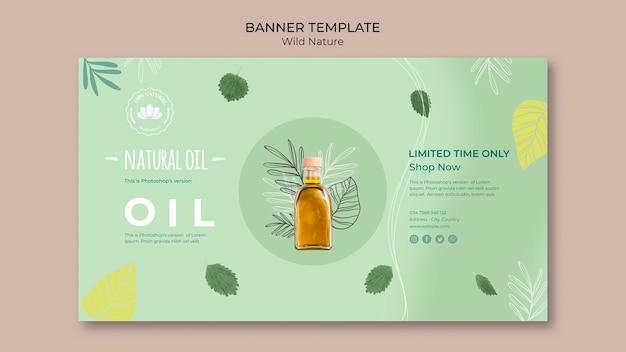 Oferta especial de plantilla de banner de aceite natural PSD gratuito