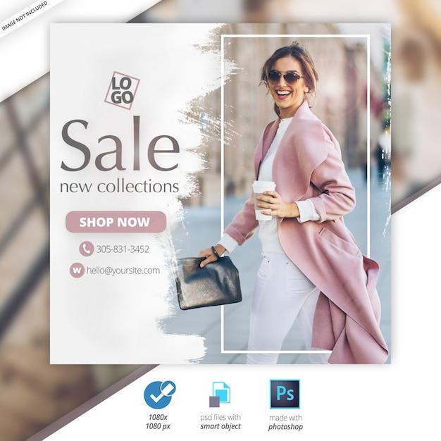 Oferta especial venta web social media banner PSD Premium
