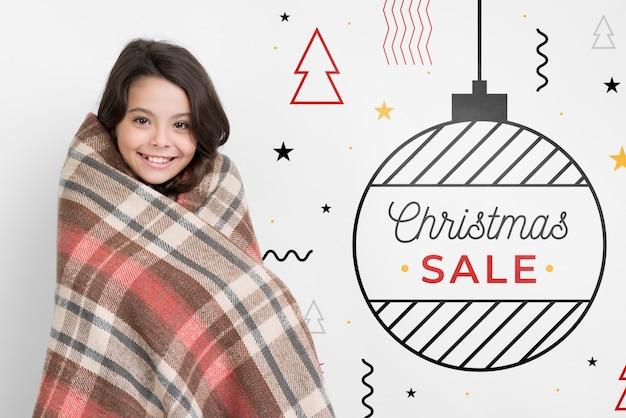 Ofertas promocionales en navidad PSD gratuito