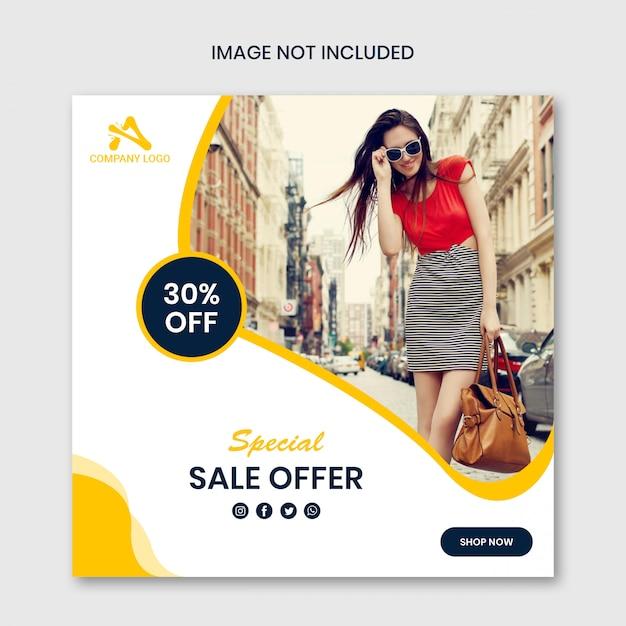 Offerta speciale vendita modello di progettazione post social media Psd Premium