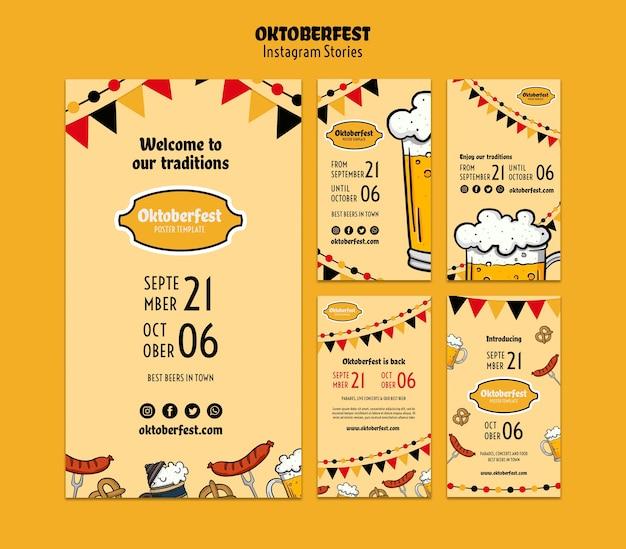 Oktoberfest-sjablonen voor sociale media Gratis Psd
