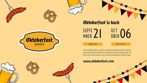 Oktoberfest sjabloon folder Gratis Psd