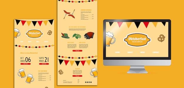 Oktoberfest websjablonen Gratis Psd