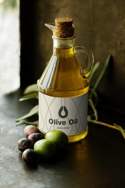 Olijfolie mockup Premium Psd