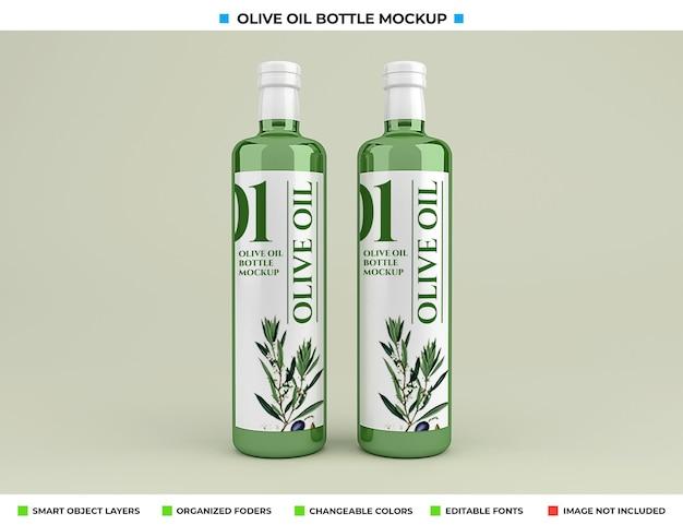 Olijfoliefles mockup geïsoleerd Premium Psd