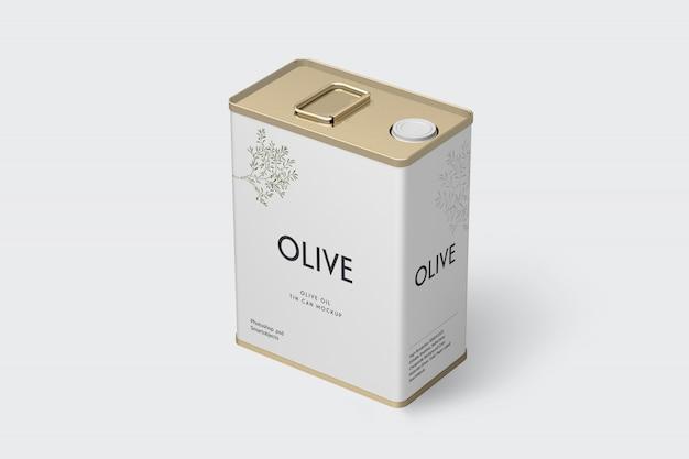 Olive tin mockup Premium Psd