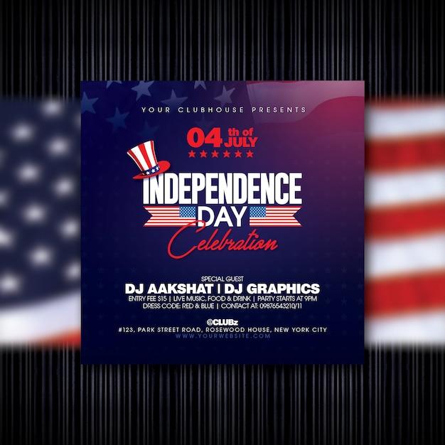 Onafhankelijkheidsdag flyer Premium Psd