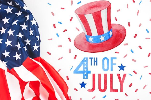 Onafhankelijkheidsdag in de verenigde staten van amerika. 4 juli Gratis Psd