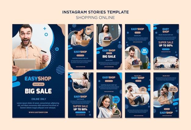 Online instagramverhalen winkelen Gratis Psd