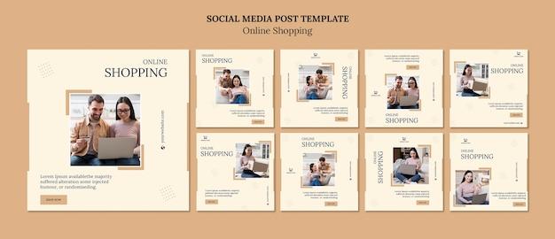 Online social media postsjabloon winkelen Gratis Psd