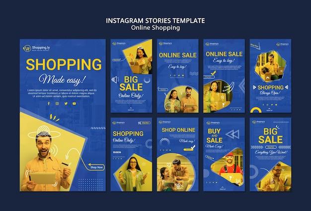 Online winkelen instagram verhalen sjabloon Gratis Psd