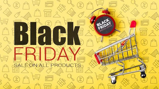 Online zwarte vrijdag verkoopcampagne Gratis Psd