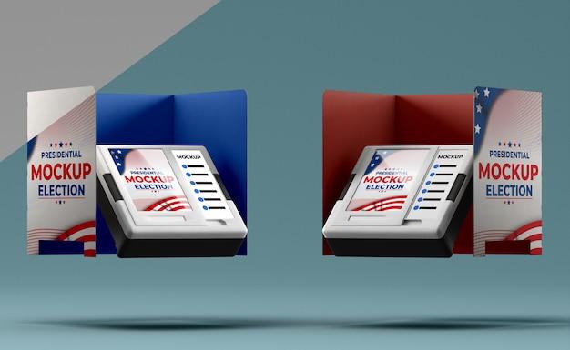 Ons verkiezingen concept mock-up Gratis Psd