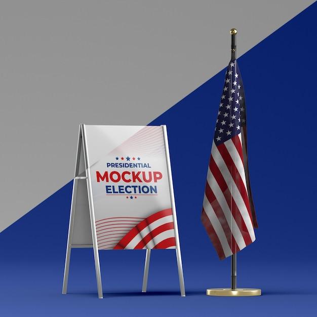 Ons verkiezingen concept mock-up Premium Psd