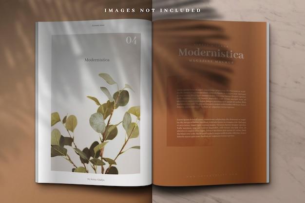 Open boek of tijdschriftmodel Premium Psd