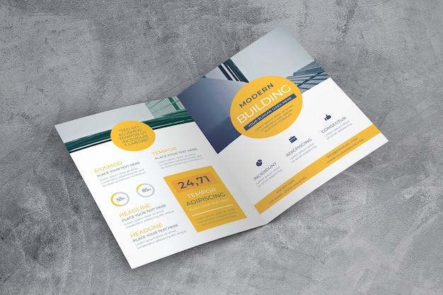 Open brochure mockup Gratis Psd