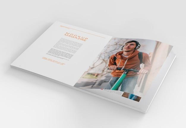 Open tijdschriftmodel Premium Psd