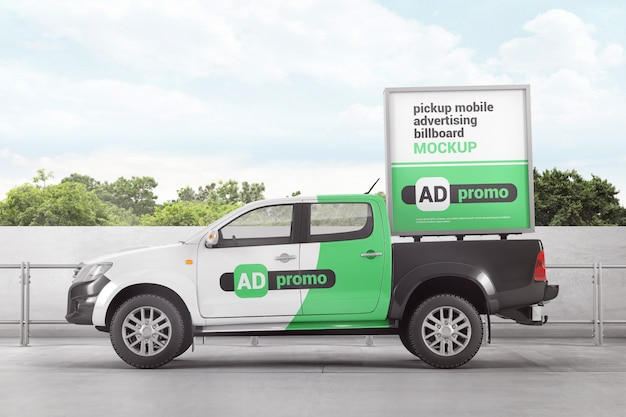Ophalen van mobiel reclamebordmodel Premium Psd
