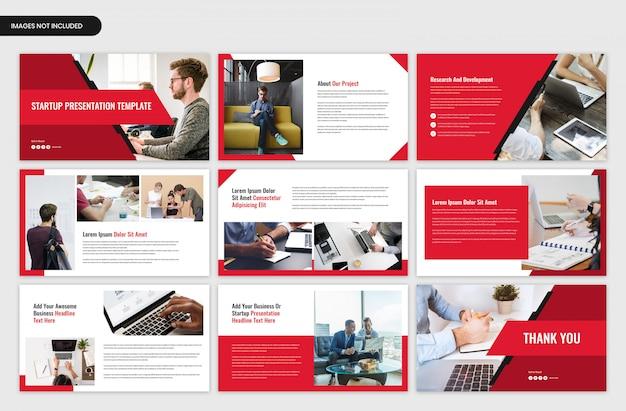 Opstartprojectoverzicht en bedrijfspresentatiesjabloon Premium Psd