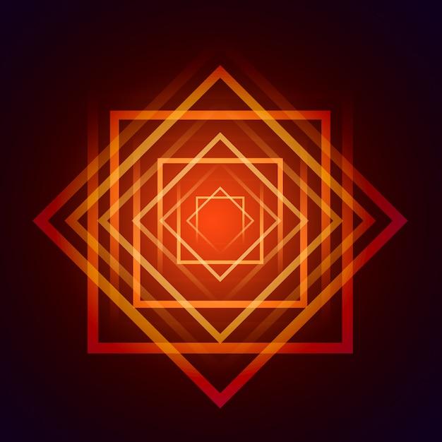 Oranje en rode vierkant achtergrond Gratis Psd