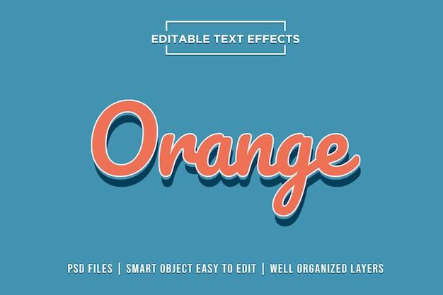 Oranje teksteffecten Premium Psd