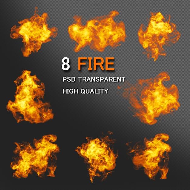 Pacchetto stili di fuoco Psd Premium