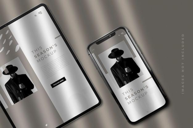 Pad en smartphone mockup Premium Psd
