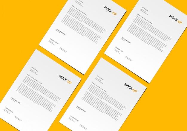 Pagina a4 mock-up Psd Premium