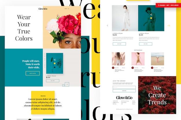 Pagina del sito web dello shopping online Psd Premium