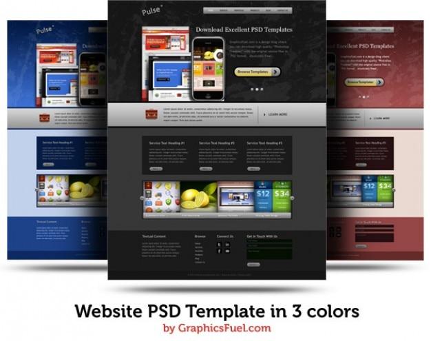 Página web psd plantilla en colores   Descargar PSD gratis