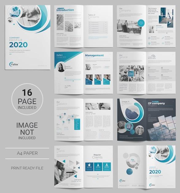 Pagina zakelijke brochure sjabloon Premium Psd