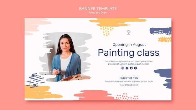 Paint & draw concept sjabloon voor spandoek Gratis Psd
