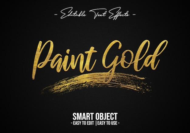 Paint-gold-text-style-effect Premium Psd