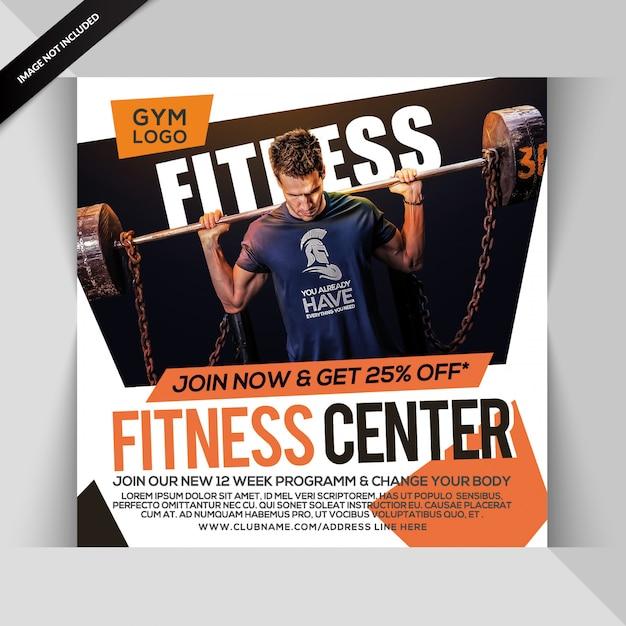 Palestra instagram fitness post o modello di volantino quadrato Psd Premium
