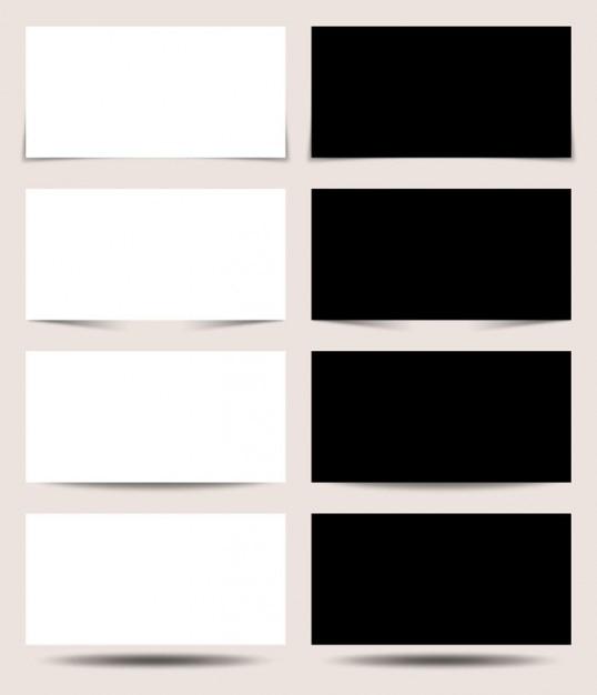 Paneles de proyección en blanco y negro PSD gratuito