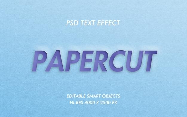 Papercut-teksteffect Premium Psd