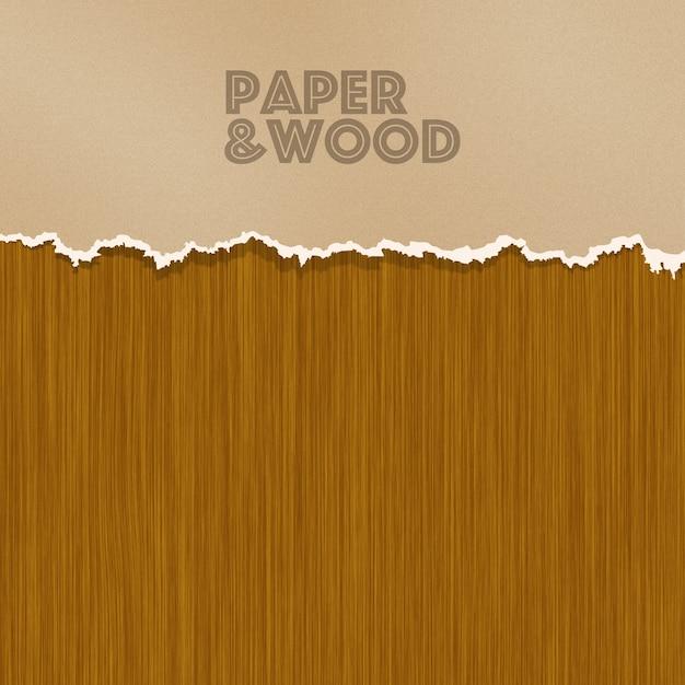Papier en hout achtergrond Gratis Psd
