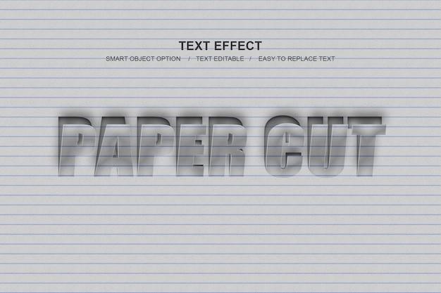 Papier gesneden photoshop layer-stijl Premium Psd