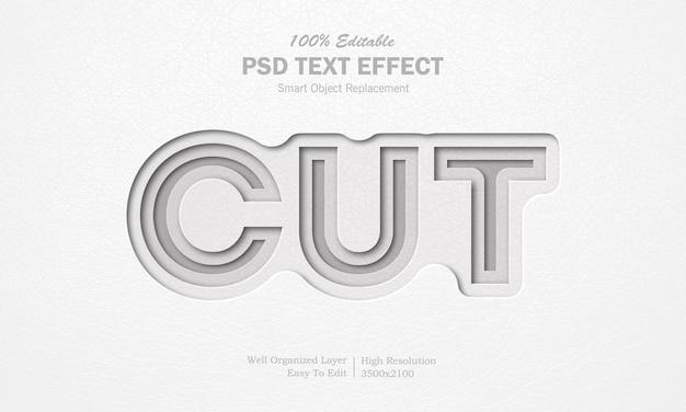 Papier gesneden teksteffect Premium Psd