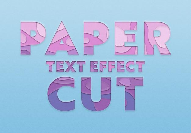 Papier knipsel tekst effect sjabloon Premium Psd