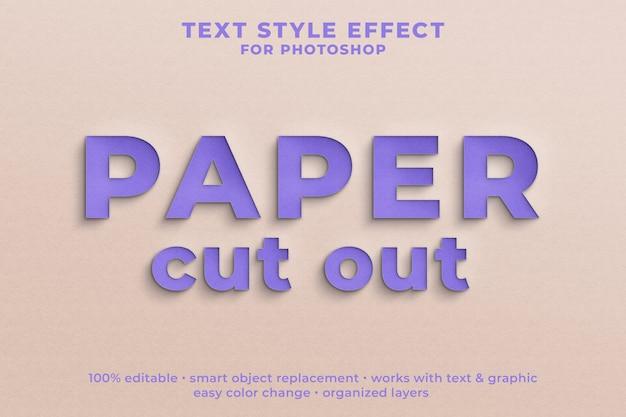 Papier uitgesneden 3d-tekststijl effect psd-sjabloon Premium Psd