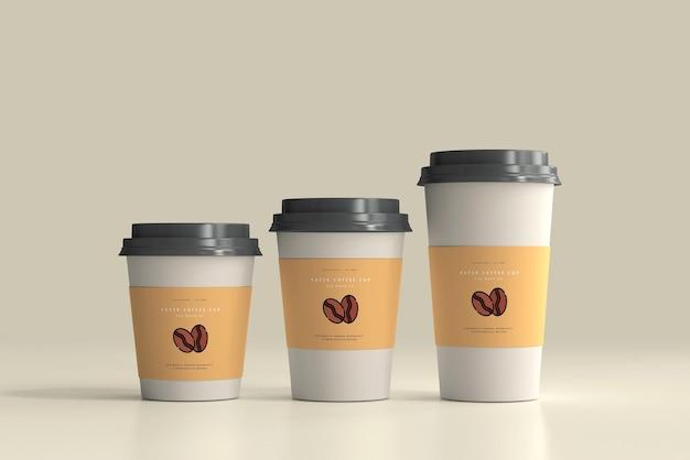 Papieren koffiekopje mockup-scène Gratis Psd