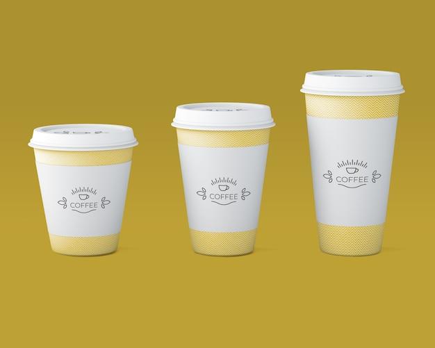 Papieren koffiekopje mockup Gratis Psd