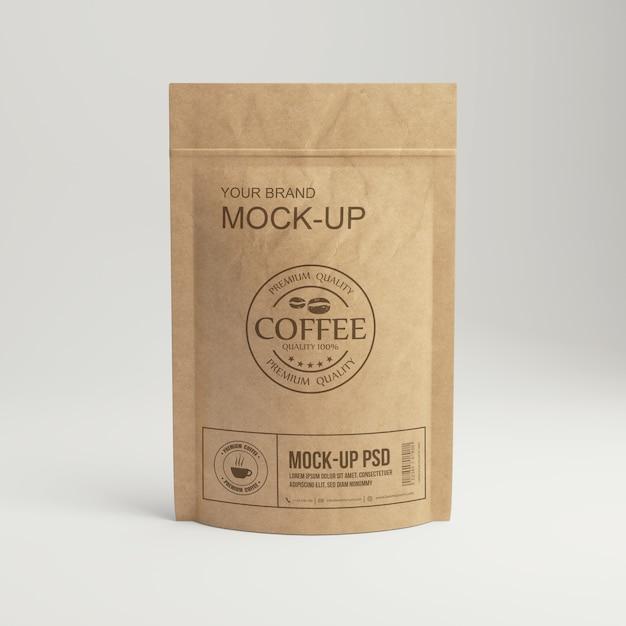 Papieren koffiezakverpakkingen Premium Psd