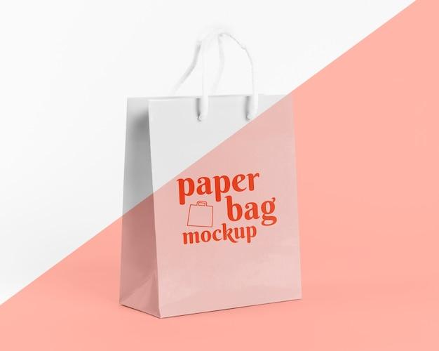 Papieren zak concept met mock-up Gratis Psd
