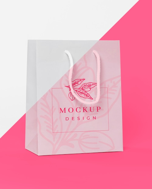 Papieren zak concept met mock-up Premium Psd