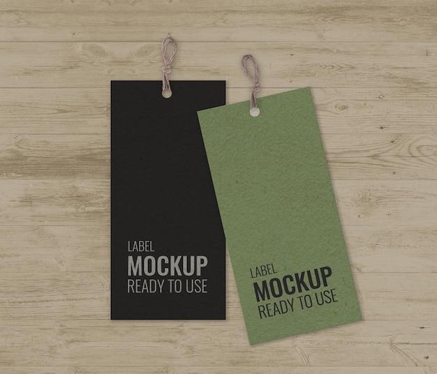 Paquete de etiquetas con maqueta de rayas. PSD gratuito