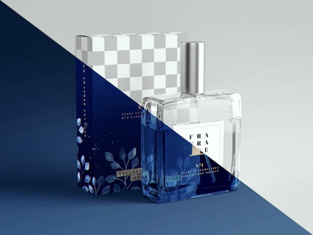 Parfum en verpakkingsmodel Premium Psd